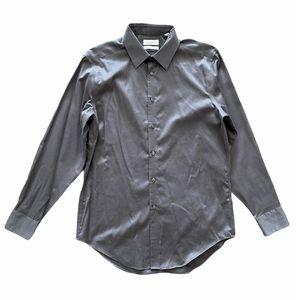 Calvin Klein Non Iron Slim Fit Button Up Shirt Top